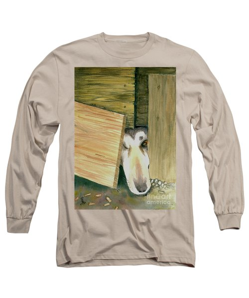 Long Sleeve T-Shirt featuring the painting A Great Escape  -variation 2 by Yoshiko Mishina