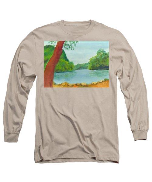 A June Day At Hidden Falls Long Sleeve T-Shirt