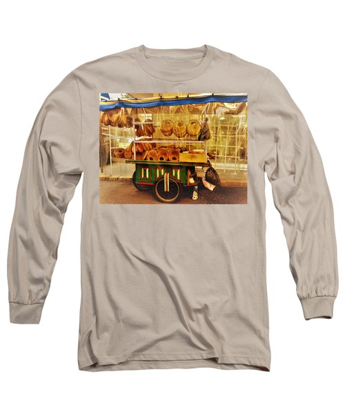 A Kaake Street Vendor In Beirut Long Sleeve T-Shirt