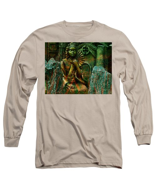 Long Sleeve T-Shirt featuring the digital art A Life Of Meditation by Bliss Of Art