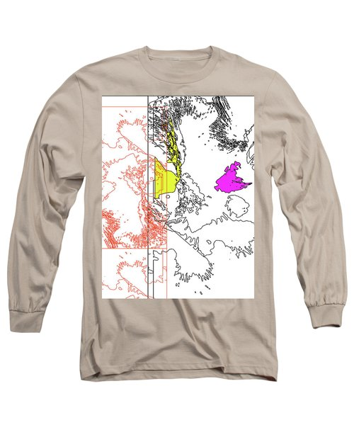 A Map Of Irises Long Sleeve T-Shirt
