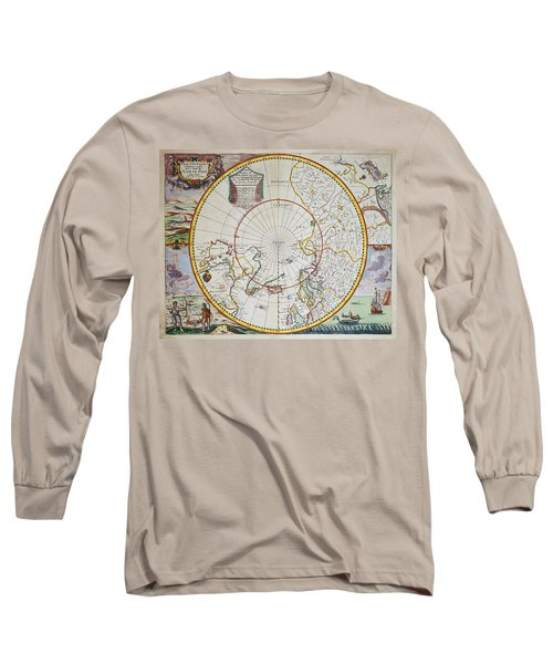 A Map Of The North Pole Long Sleeve T-Shirt
