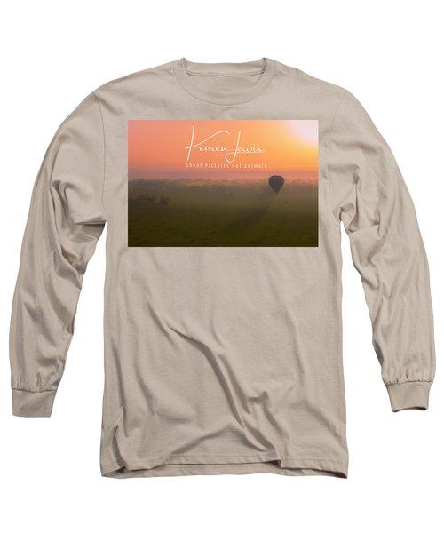Long Sleeve T-Shirt featuring the mixed media A Mara Morn by Karen Lewis
