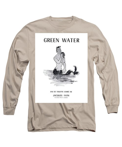 Long Sleeve T-Shirt featuring the digital art A Merman by ReInVintaged