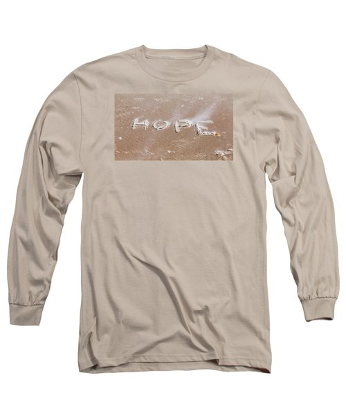 Long Sleeve T-Shirt featuring the photograph A Message On The Beach by John M Bailey