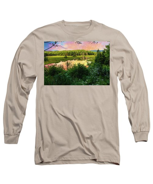 A New England Bog. Long Sleeve T-Shirt