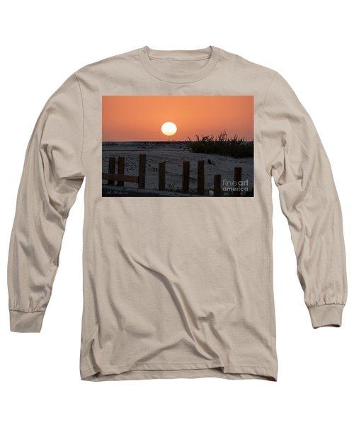 Long Sleeve T-Shirt featuring the photograph A November Sunset Scene by Arik Baltinester