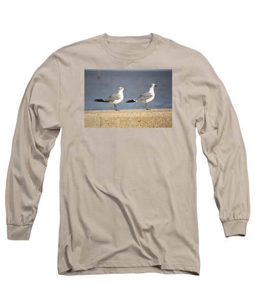 Long Sleeve T-Shirt featuring the photograph A Pair Of Gulls by Donna G Smith