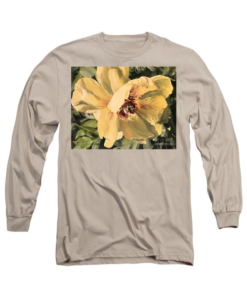 A Peony For Miggie Long Sleeve T-Shirt by Laurie Rohner