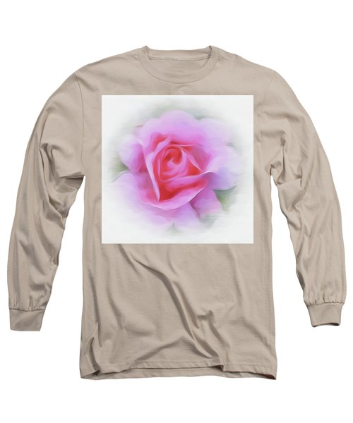 A Perfect Pink Rose Long Sleeve T-Shirt