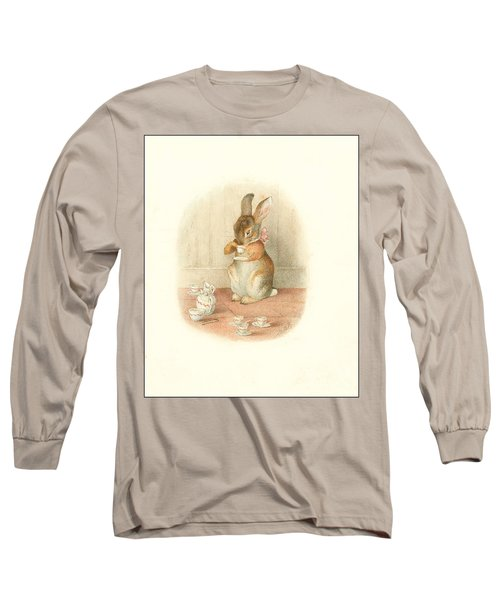 A Rabbit's Tea Party Long Sleeve T-Shirt