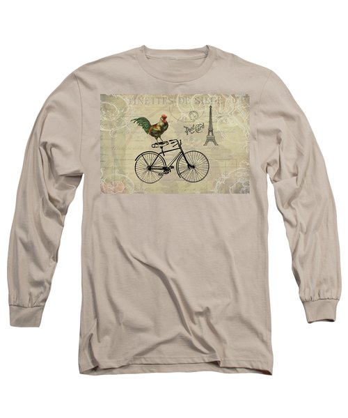 A Rooster In Paris Long Sleeve T-Shirt