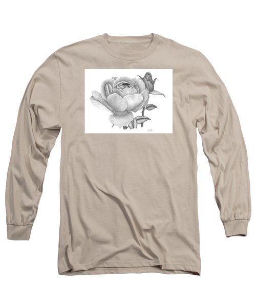 A Rose Bloom Long Sleeve T-Shirt by Patricia Hiltz