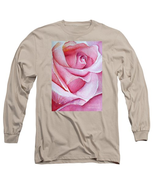 Long Sleeve T-Shirt featuring the painting A Rose For You by Allison Ashton