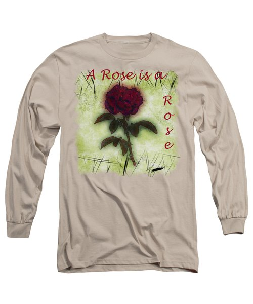 A Rose Long Sleeve T-Shirt by John M Bailey
