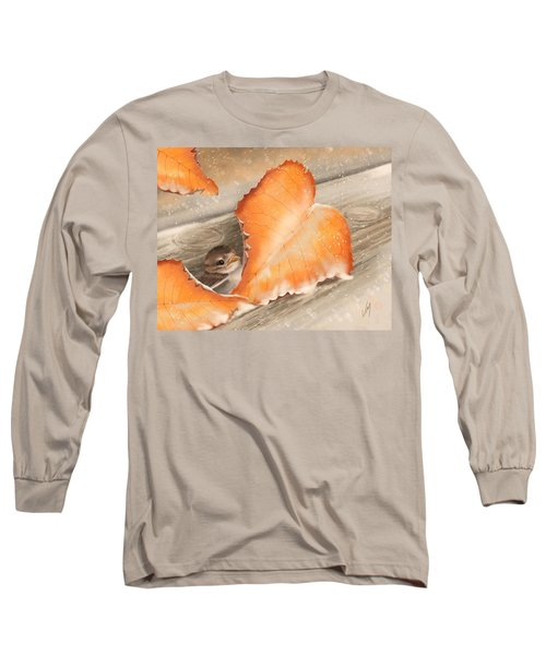 Long Sleeve T-Shirt featuring the painting A Safe Place by Veronica Minozzi