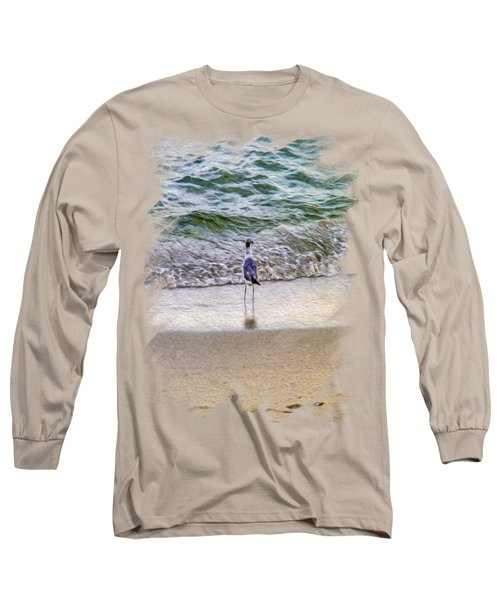 A Seagull Looking Out To Sea Long Sleeve T-Shirt