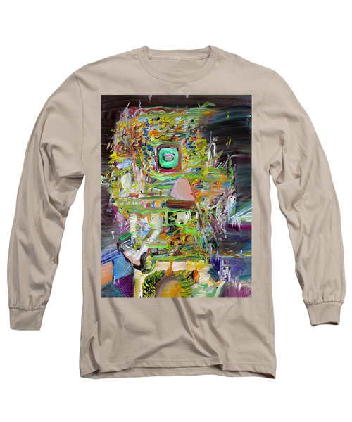 Long Sleeve T-Shirt featuring the painting A Small Portion Of Herself by Fabrizio Cassetta