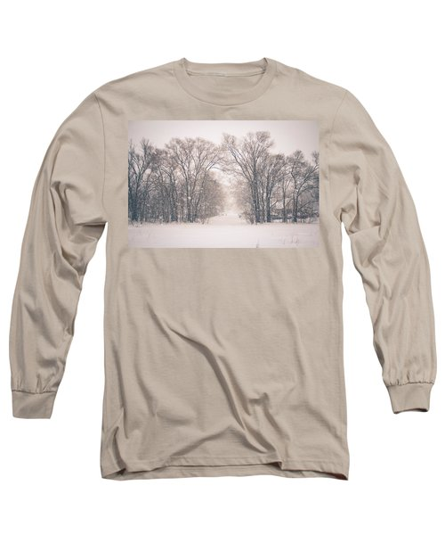 A Snowy Monday Long Sleeve T-Shirt