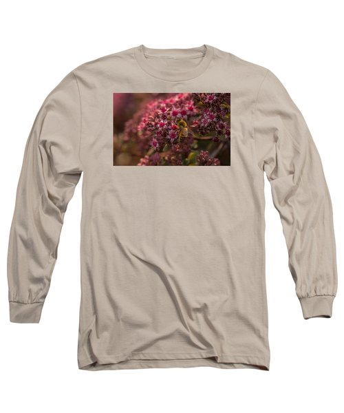 Long Sleeve T-Shirt featuring the photograph A Summer Bee by Yeates Photography