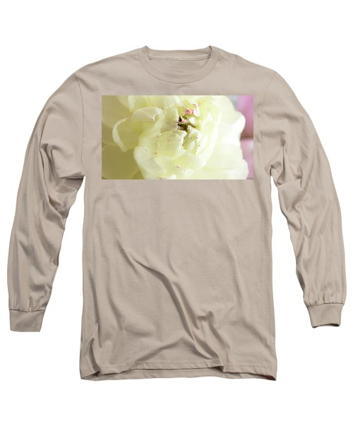 Long Sleeve T-Shirt featuring the photograph A Touch Of Pink by Wendy Wilton