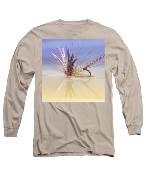 A Trout Fly (greenwell's Glory) Long Sleeve T-Shirt by John Edwards