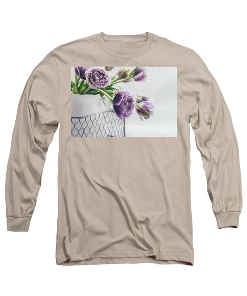 Long Sleeve T-Shirt featuring the photograph A Tulip Moment by Kim Hojnacki