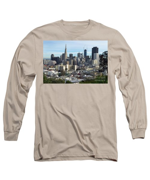 Long Sleeve T-Shirt featuring the photograph A View Of Downtown From Nob Hill by Steven Spak