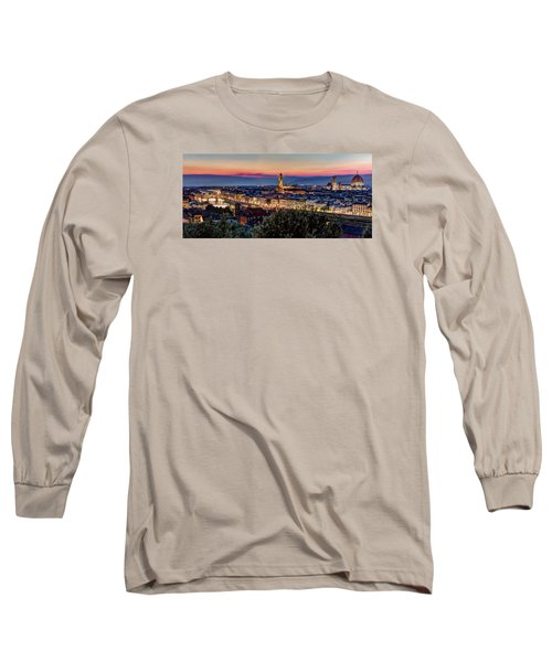 Long Sleeve T-Shirt featuring the photograph A View Of Florence by Brent Durken