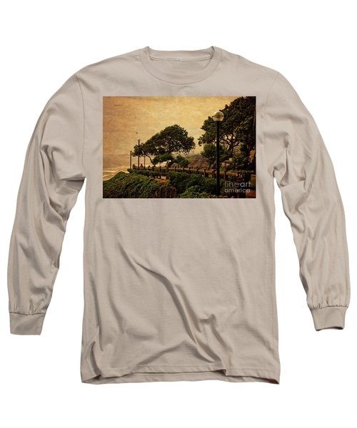 Long Sleeve T-Shirt featuring the photograph A Walk On The Edge - Peru by Mary Machare