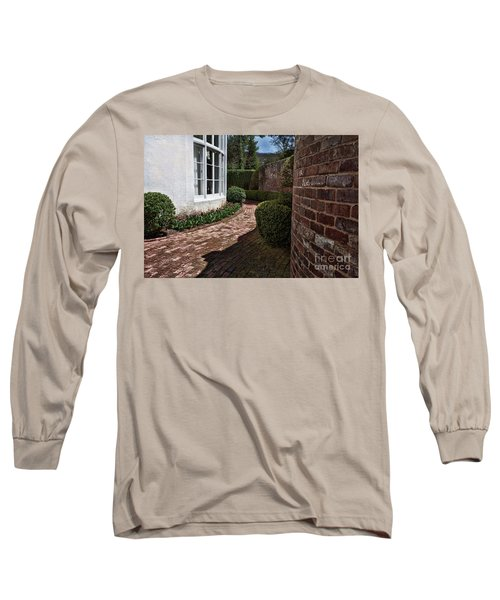 A Walk Through The Greenbrier Long Sleeve T-Shirt by Laurinda Bowling