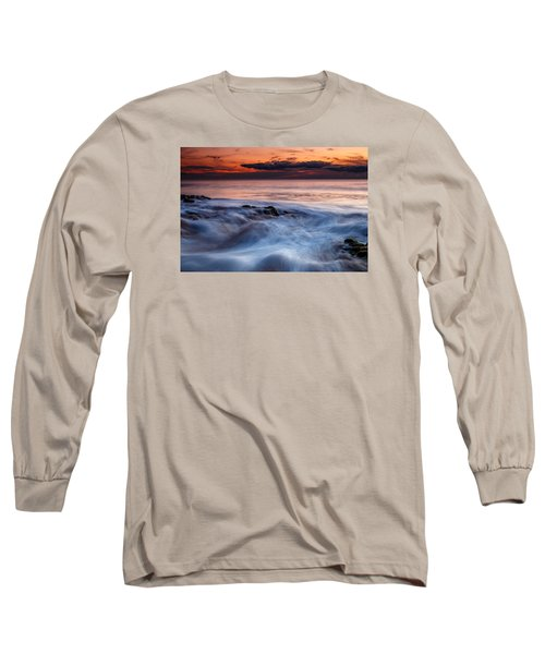 A Wave At Sunset Long Sleeve T-Shirt