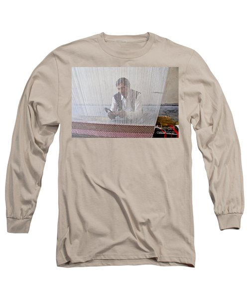 A Weaver Weaves A Carpet. Long Sleeve T-Shirt