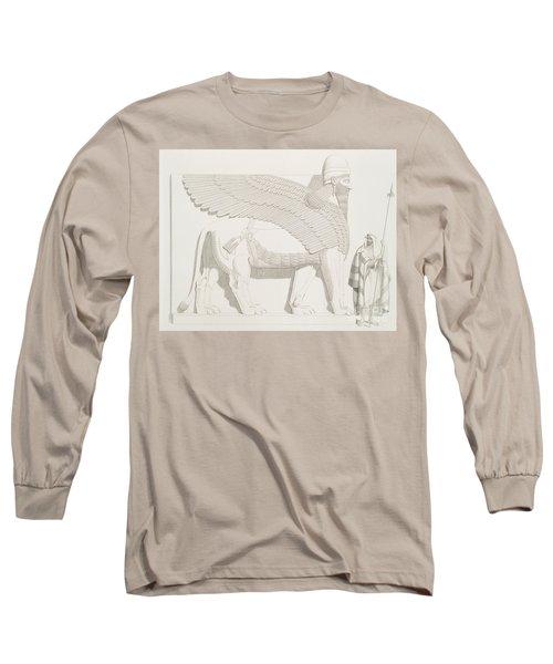 A Winged Human-headed Lion From Nimroud Long Sleeve T-Shirt