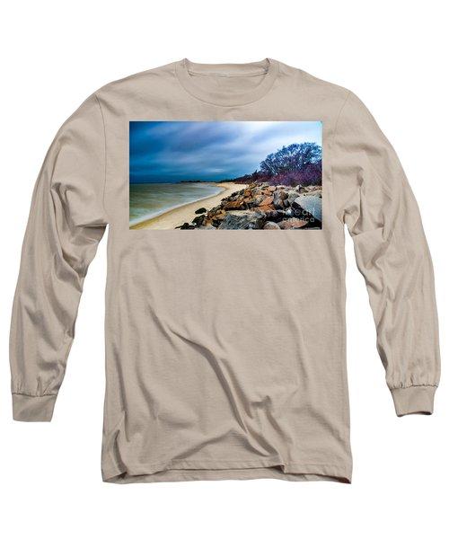A Winter's Beach Long Sleeve T-Shirt