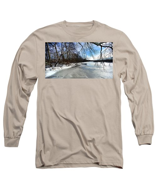 A Winters Day Long Sleeve T-Shirt by Diane Giurco
