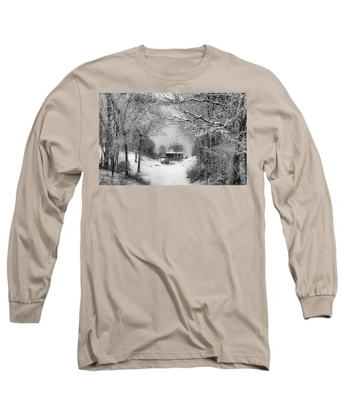 A Winter's Tale In Centerport New York Long Sleeve T-Shirt