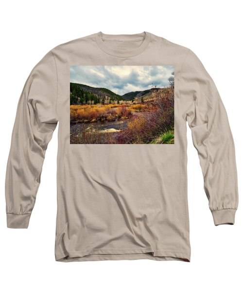 A Wyoming Autumn Day Long Sleeve T-Shirt by L O C