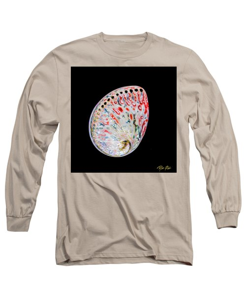 Long Sleeve T-Shirt featuring the photograph Abalone - Touches Of Red by Rikk Flohr