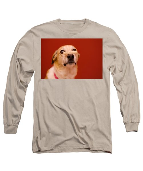 Abbie And A Milky Bone Long Sleeve T-Shirt