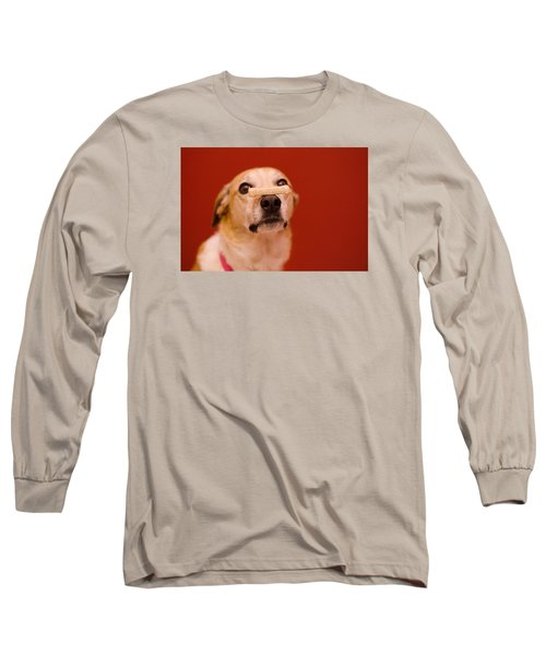 Abbie And A Milky Bone Long Sleeve T-Shirt