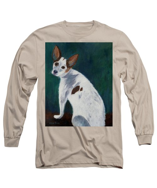 Long Sleeve T-Shirt featuring the painting Abby by Jamie Frier