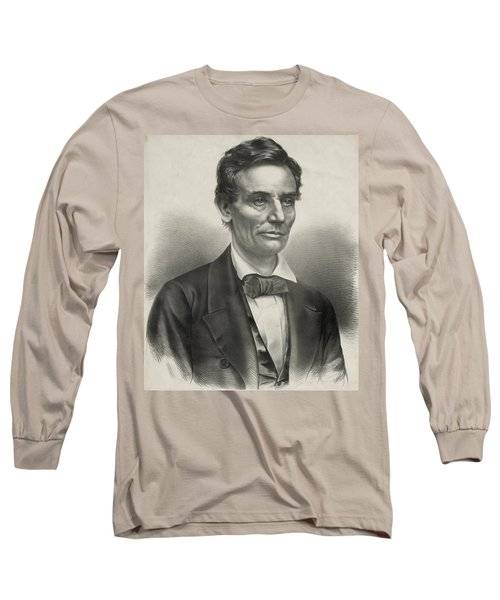 Long Sleeve T-Shirt featuring the photograph Abraham Lincoln - As A Presidential Candidate by International  Images