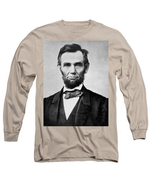 Abraham Lincoln -  Portrait Long Sleeve T-Shirt