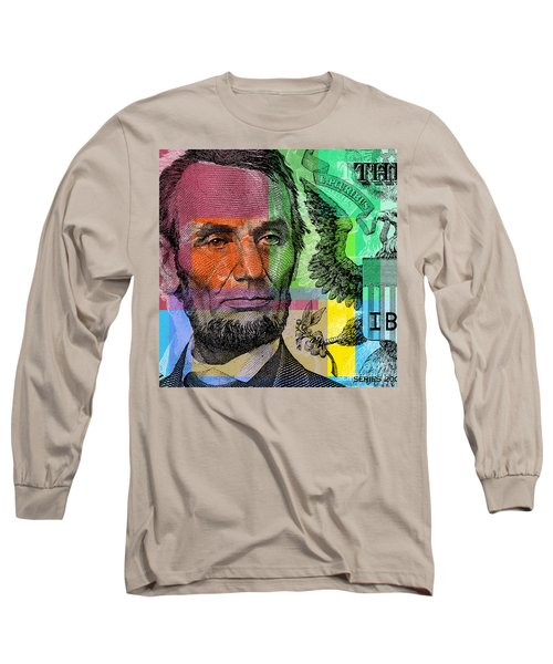 Abraham Lincoln - $5 Bill Long Sleeve T-Shirt