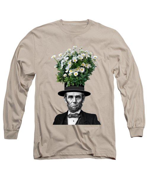 Abraham Lincoln Presidential Daisies Long Sleeve T-Shirt by Garaga Designs