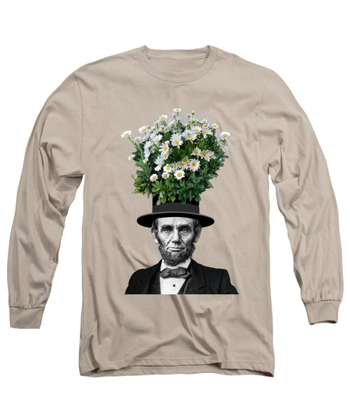 Abraham Lincoln Presidential Daisies Long Sleeve T-Shirt