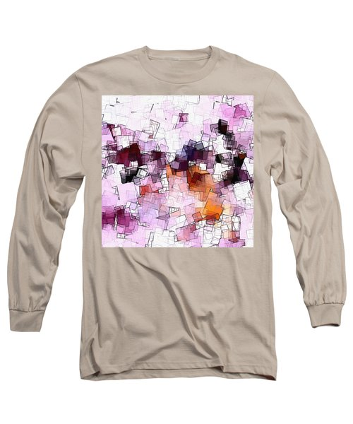 Abstract And Minimalist Art Made Of Geometric Shapes Long Sleeve T-Shirt by Ayse Deniz