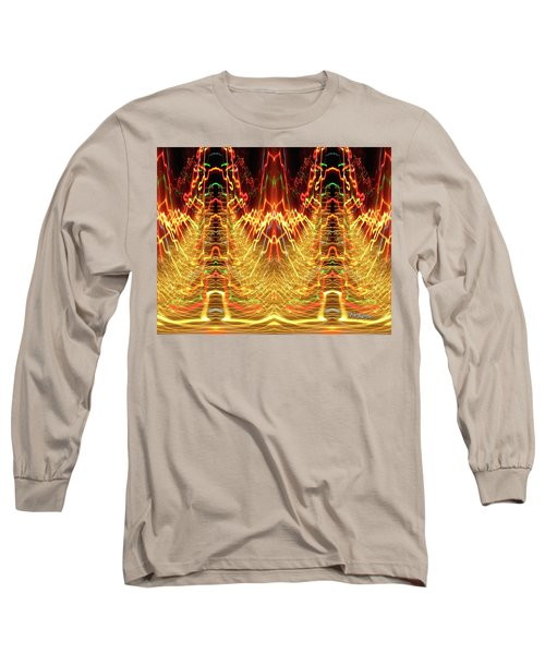 Abstract Christmas Lights #175 Long Sleeve T-Shirt by Barbara Tristan