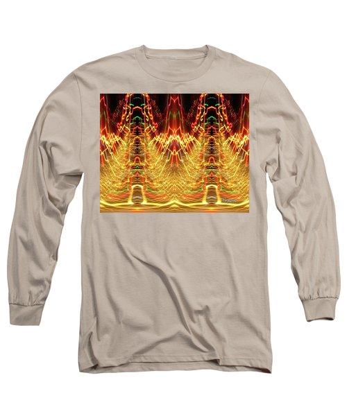 Abstract Christmas Lights #175 Long Sleeve T-Shirt